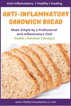 Gluten Free Low Carb Bread Recipe, Healthy Bread Recipes, Sandwich Bread Recipes, Lowest Carb Bread Recipe, Best Low Carb Recipes, Carb Free Bread, Low Calorie Bread, Low Carb Cereal, Anti Inflammatory Recipes