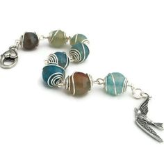 Wire Wrapped Bracelet with Turquoise Agate and by adiencrafts,