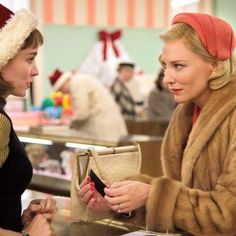 Movies: Cate Blanchett and Rooney Mara smoke and smolder in a clip from Carol