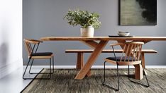 Mika dining table and chair from GlobeWest. Styling: Julia Green. While in their original forms Japanese and Scandi styles appear similar, when applied together they offer a new versatility and practicality and a more extensive colour palette for homeowners to explore.