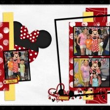 Hugs and Kisses Minnie Mouse - MouseScrappers - Disney Scrapbooking Gallery