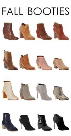 Fall Must-Haves: Booties in every color!   This is heaven........