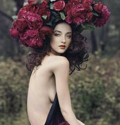 #story #fairytale #magic #roses #princess #headpiece #dream #goddess #dramatic #queen #backless