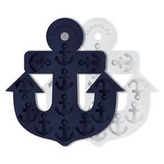 Sunnylife Anchor Ice Tray Set of 2 Navy & White