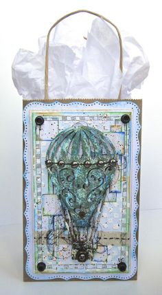 Blue Fern Studios: Jackie's June Creations - A Layout and A Mixed Media Gift Bag and Card