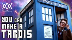 How to build a TARDIS! Limited tools needed. Free plans.