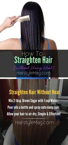 Hair Straightening Tutorials - How To Straighten Hair Without Using Heat -Looking For The Best Hair Straightening Tutorials And The Best Straightening Tips On The Web? Whether You Are Looking To Use A Flat Iron, Or Trying To Straighten Your Hair Without Heat, Where There's A Will, There's A Way, And There Are Products To Help Your Curls. These Step By Step Hair Straightening Hacks And Tips Will Make It So You Can DIY Your Hair With Some Simple Techniques, A Brush, And Your Creativity. We…