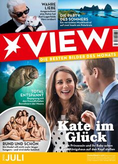 VIEW Heft 07/2013 Karl Lagerfeld, Freundlich, Cover, Magazines, Party, Movie Posters, True Love, Photo Illustration, Journals