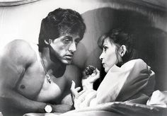 "Sylvester Stallone with Talia Shire in ""Rocky III"" (1982)"
