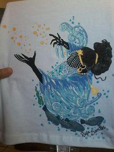 Yemanjá - Tinta de tecido