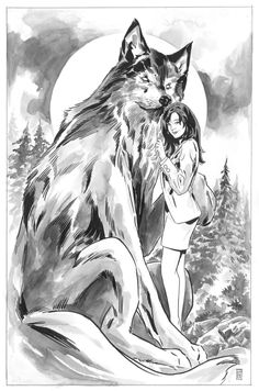 Snow White and Bigby Wolf by Mark Buckingham