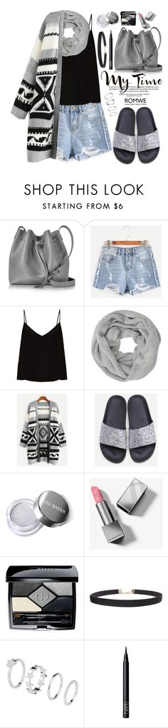 """""""Romwe"""" by oshint ❤ liked on Polyvore featuring Lancaster, Raey, John Lewis, Tag, Burberry, Christian Dior, Humble Chic and NARS Cosmetics"""