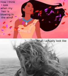 How I think I look when my hair is blowing in the wind.