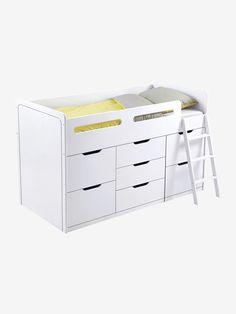 Combiné lit enfant avec rangements LIGNE PASSE-PASSE XXL Blanc 1 - vertbaudet enfant