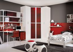 A simple way to design your teen kid's bedroom is to involve their ideas and opinion while choosing a particular design for it