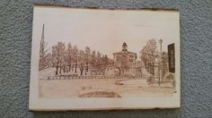 A wood burning of Gastavus Adolphus College in St. Peter, Minnesota I just did.