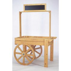 Peddler's Wooden Display Cart