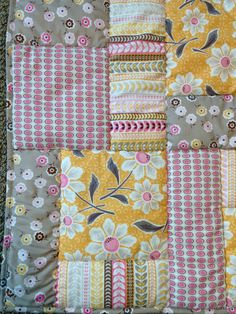 baby quilt minky baby blanket yellow pink baby by ohSEWcuddly