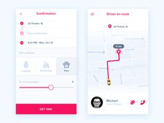 Hey guys,  Sharing a first exploration for a taxi mobile app project I am working on. Also check out the larger previews attached for a better look.  Hope you like my work, feedback is welcome  Beh...
