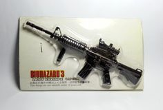 Hong Kong Capcom Comic BIOHAZARD 3 Last Escape Promo Assault Rifle Black Metal Toy - Resident Evil