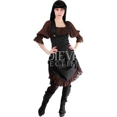 Steampunk Brocade Underbust Pinafore Dress - PH-1010 by Medieval Collectibles