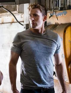 Chris Evans on the set of Civil War - Visit to grab an amazing super hero shirt now on sale!