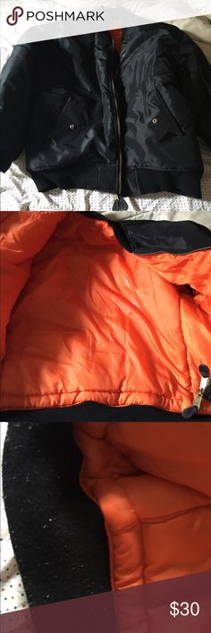 Bomber jacket Great condition. No size but fits a large in men and 1x-2x in women. Very warm!!! Jackets & Coats Puffers