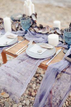 Ideas Tropical Beach Wedding Decorations Table Settings For 2020 Purple Wedding Bouquets, Purple Wedding Cakes, Beach Wedding Inspiration, Wedding Ideas, Wedding Themes, Wedding Details, Diy Wedding, Wedding Favors, Palette Table