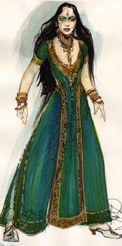 Alanna, Lady Knight/Bazhir/K'miri mix The Vampire Chronicles  Pandora costume concept art