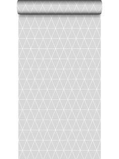 Papier peint Triangolin gris galet, scandinave. Graham & Brown