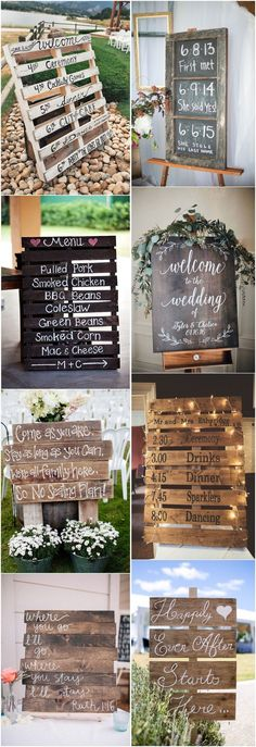 18 Rustic Budget-Friendly Rustic Wedding Signs Ideas - #Weddings #Weddingideas #Weddingsigns
