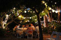 outside dinner vibe   Garden Wedding in the Florida Keys