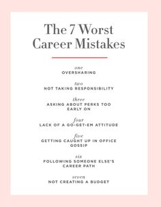 The 7 Career Mistakes Even Savvy Women Make - Cupcakes Career Path, Career Ideas, Career Inspiration, Career Goals, Career Planning, Career Success, Career Change, Career Advice, Work Success