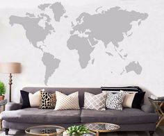 World Map Wall Sticker Decal - Mom Abode