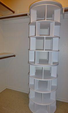 Shoe Rack Closet, Diy Shoe Rack, Closet Shelves, Closet Storage, Storage Rack, Shoe Closet Organization, Corner Shelves, Shoe Racks For Closets, Storage Ideas