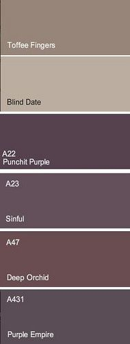 <3 love 'sinful' or 'purple empire' for a dining room or bedroom accent wall