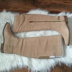 Splendid over-the-knee boots Perfect boots, in a neutral color. Silky cow suede. Color: nut. Offers welcome through offer tab. No trades. 30816420 Splendid Shoes Over the Knee Boots
