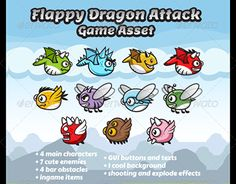 "Check out new work on my @Behance portfolio: ""Game Asset - Flappy Dragons Attack Sprite Sheets"" http://be.net/gallery/50914955/Game-Asset-Flappy-Dragons-Attack-Sprite-Sheets"