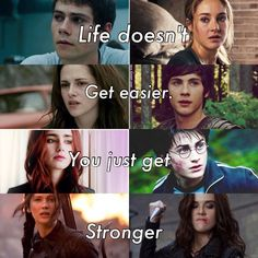 The Maze Runner, Divergent, Twilight, Percy Jackson, The Mortal Instruments, Harry Potter, The Hunger Games, Vampire Academy