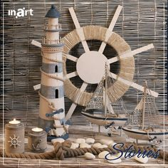 Lighthouses are enigmatic, mysterious and classic decorative pieces for home. The design of the lighthouse featured in the picture below was inspired by Cape Hatteras Lighthouse -the tallest lighthouse in the United States- yet it adorns a more romantic essence than the original! Like it? #inartStories