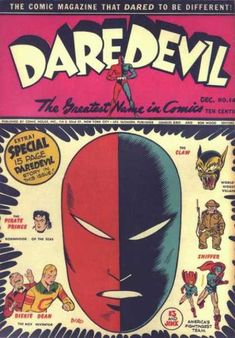 Daredevil 14 Golden Age Comic. Very hard to find, and less well-known than some of the big-name Golden Age comics.