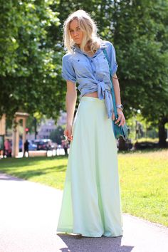 vintage maxi skirt in a great color