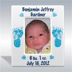 Personalized Baby Boy Picture Frame - http://www.247babygifts.net/personalized-baby-boy-picture-frame-2/