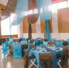 Déco de Mariage Bleu Turquoise Marron Chocolat