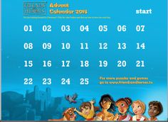 Free 2013 Advent Calendar: Each day includes a Bible reading plus a goodie like a puzzle, coloring sheet, music video or Bible story video.