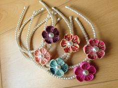 Bella hairbands handmade by Dainty n'Arty