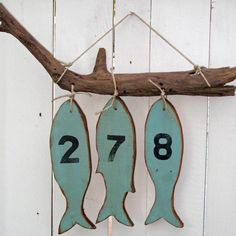 Rustic Branch with a Hanging Fish Display