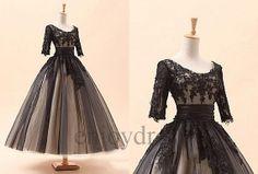 Custom Vintage Victorian Dresses Long Applique Lace by enjoydress, $188.00