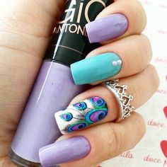 70 trendy nail Art ideas for summer 2015 Peacock
