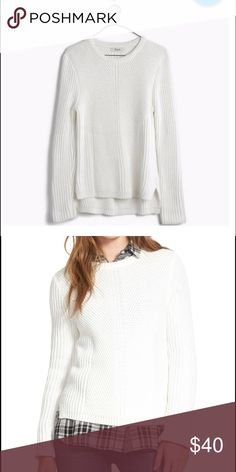 hexcomb texture sweater A crazy-soft crewneck sweater with textured ribbing, engineered for a flattering streamlined look. Say bonjour to your new favorite option for lazy sweater days.    True to size. Cotton/viscose/nylon. Hand wash. Madewell Sweaters Crew & Scoop Necks
